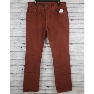 J Brand | Kane Slim Straight Orange/Brown Jean 36
